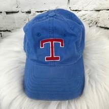 T Monogrammed Boys One Sz Hat Blue Adjustable Strapback Baseball Cap - $9.89