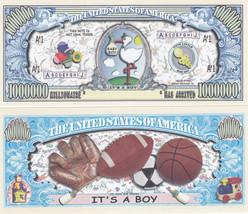 50 It's a Boy! Birth Announcement Keepsake Bills Lot - $11.87