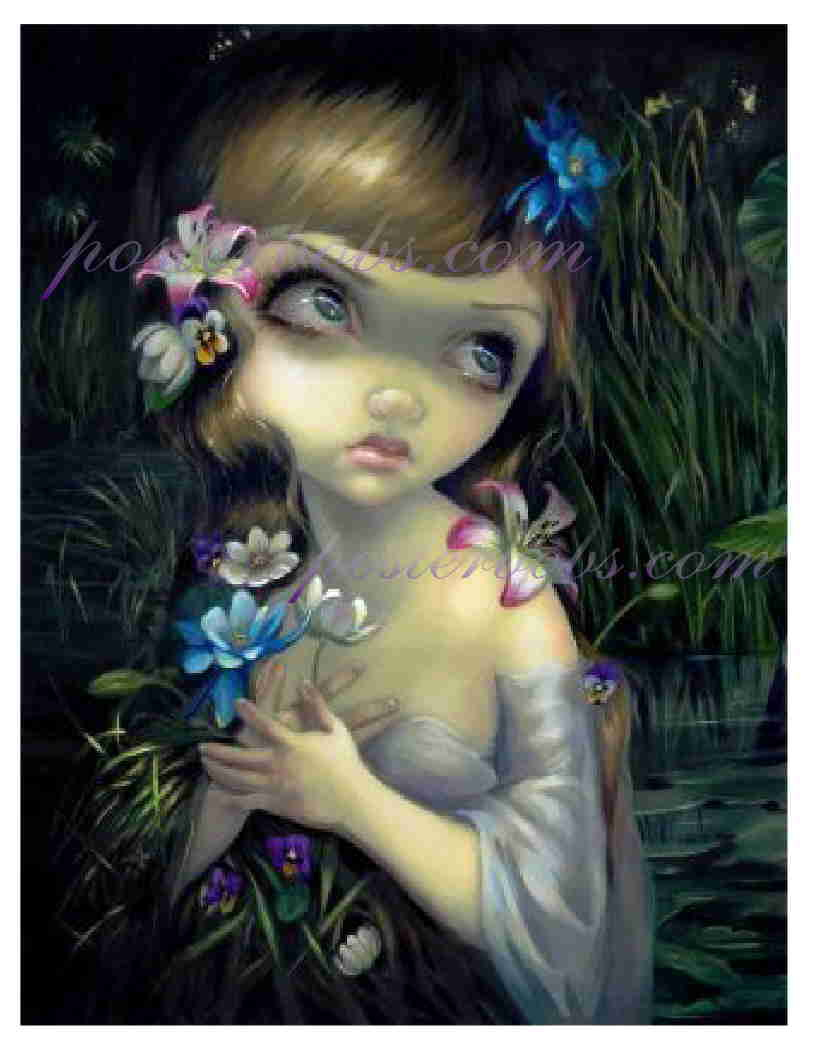 "Jasmine Becket-Griffith ""PORTRAIT OF OPHELIA""  Fine Art Giclee 13 x 10 in. Print"