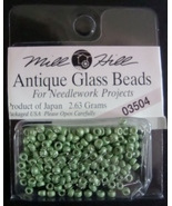 Mill Hill Antique Glass Beads for Needlework Projects 03504 Satin Moss - $1.25