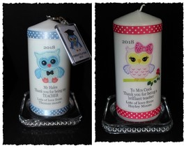 Teacher personalised gift Male or female candle + Keyring  | Cellini  ca... - $20.27
