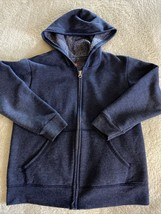Hanes Boys Blue Long Sleeve Zip Up Hoodie Pockets Medium 8 - $8.33