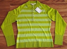 NEW NIKE GOLF WOMENS SHIRT WOOL SWEATER XS $110 GREEN - $37.22