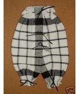 Black & White Plaid KITCHEN BRITCHES Dish Cloths Wall Decor  - $6.99