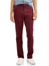 George Windsor Wine Slim Straight Stretch Casual Chino Pant 34x32 - $8.91