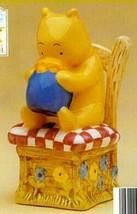 Disney Winnie The Pooh Bear  in chair Salt & Pepper - $34.99