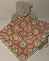 Blanket And Beyond Pink Gray Grey Bear Plush Baby Lovey Lovie Security F... - $19.99