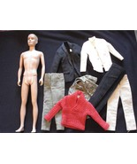 Vintage 1960 Blonde Flocked Fuzzy Hair KEN with Clothes to reflock Good ... - $32.71