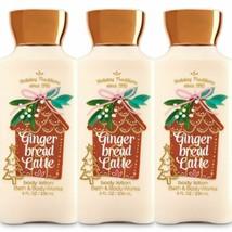 3 Pc. Bath & Body Works Gingerbread Latte Shea Body Lotion Set Lot New - $23.36
