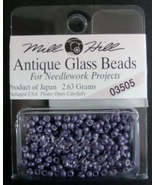 Mill Hill Antique Glass Beads for Needlework Projects 03505 Satin Purple - $1.25