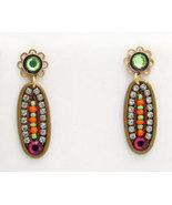 Signed ADAYA Maya Crystal Beads Mosaic Earrings - $29.99