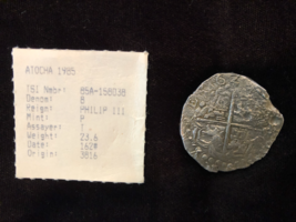 ATOCHA 1622  DATED! SHIPWRECK FISHER BOLIVIA 8 REALES SILVER PIRATE GOLD... - $2,950.00