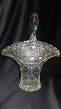 LE Smith Crystal Glass Innovation Buttons Stars Leaves Basket Vase - $99.00