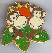Disneyana 2000 Small World Monkeys #9 Signed On original backer card pin/pins - $48.99