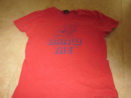 Abercrombie & Fitch Red T shirt Red Draw Me has Dog on front  Kids large - $4.94