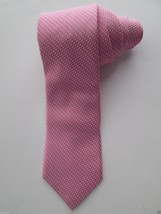 Nordstrom Jacquard Tipping Woven Silk Neck Tie Lightpink 59x3.5 Made In ... - $39.89