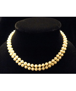 32 Inch Opera Length 6mm Dark Ivory Simulated Pearl Necklace - $29.99
