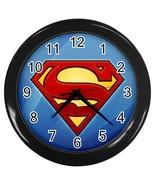 New SUPERMAN  Black Wall Clock Decor Gift - $20.95