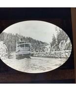 Vtg Magic Lantern Glass Slide Photo India Telemarken Norway River Canal ... - $12.30