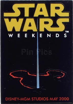 Disney MGM Star Wars Weekend Light Sabre Logo Pin/Pins