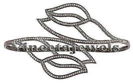 Handmade Victorian Look Sterling Silver 3.20Ct Rose Cut Diamond Bracelet... - $550.20
