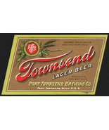 Vintage label TOWNSEND LAGER BEER Port Townsend Washington new old stock... - $5.99