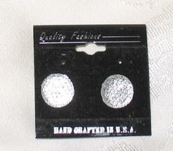Glittery Round Pierced Earrings - $4.99