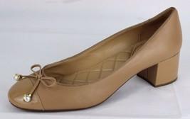 Michael Kors GIA Femmes Flexible Chaussures Plates Cuir Matelassé Caramel - $37.92