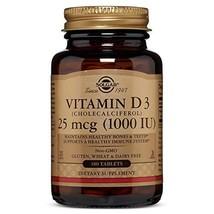 Vitamin D3 Cholecalciferol 25 mcg 1000 IU Tablets - 180 Count