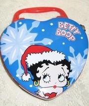 Betty Boop-Heart Shaped Hinged Tin-Winter Theme-2001 - $10.00