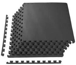 Rubber Puzzle Mat Gym Fitness Floor Exercise Interlocking Tiles 24 Sq Ft... - $464,34 MXN