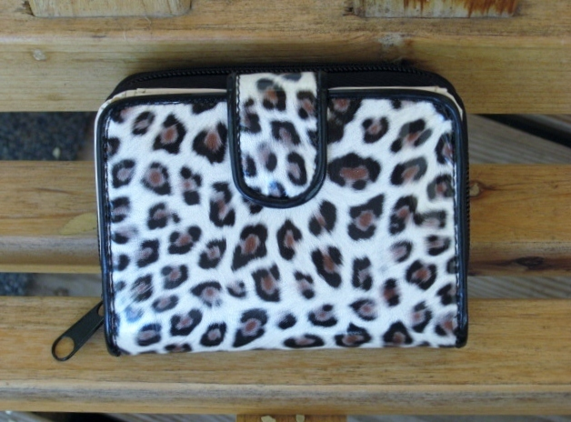 Womens Wallet Clutch Leopard Print Bifold Coin Credit Card Holder
