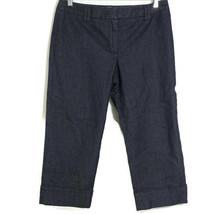 Ann Taylor Loft Capri Denim Pants Jeans Women Petite Size 8P Dark Wash B... - $19.79