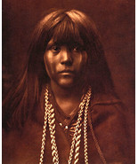 Mohave Girl 15x22 Edward S.Curtis Native American Art Photograph - $46.19