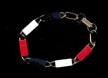 Lovely Vintage Red, White & Blue Bracelet