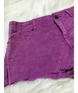 Free People women shorts size W 26 purple jeans b18 - $13.09
