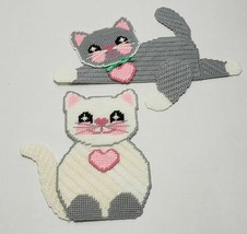 Plastic Canvas CATS Wall Hangings, Handmade, New - $19.99