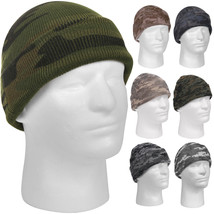 Camo Watch Cap, Beanie Skully Knitted Cuffed Stocking Sock Hat Winter Ac... - $7.99