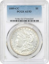 1889-CC $1 PCGS AU53 - Key Date Carson City Morgan Dollar - Morgan Silve... - $7,129.50