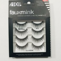 Ardell Faux Mink Luxuriously Lightweight False Fake Eyelashes 4 Pairs Bl... - $9.87