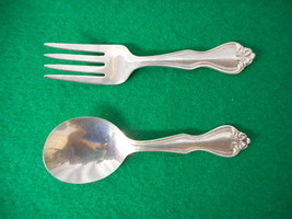 "Westmoreland Sterling George & Martha Washington 4 1/4"" Baby Set - $158.35"