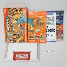 Nintendo Gameboy Advance Pokemon FireRed w/box working Japan 2002-163 - $33.94