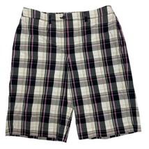 AK Anne Klein stretch women's plaid shorts knee length size 12 - $13.09