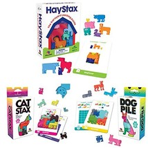 Brainwright Cat STAX The Perrfect Puzzle; Dog Pile The Pup-Packing Puzzl... - $56.30