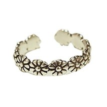 1 piece Ladies Ring Tail Ring Open Ring Women Jewelry Accessories (Little Flower