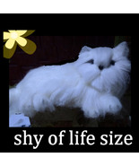 New Hand Felted Prussian Cat Figure - $65.00