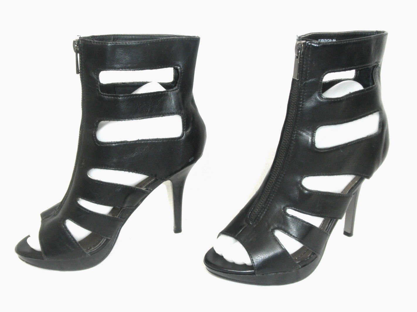 f3623386071 Dollhouse Sexy Open-Toe Zip Front 4
