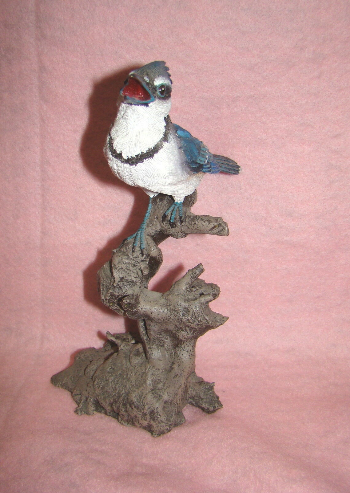 Beautiful Blue Jay Perched on a Tree Branch, Collectible Figurine image 3