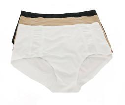 Rhonda Shear 3Pc Mesh Panty Nude Black White 2X NEW 711-745 - $12.85