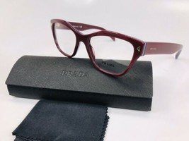 ✴ New Prada VPR 27S UF9-1O1 Burgundy Eyeglasses 51mm with Prada Case - $84.15